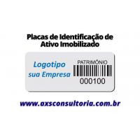 Placas e Tag's de identificação de Ativo Imobilizado!